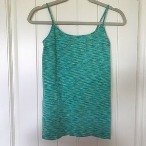Maurice's S/M stretchy green heathered tank